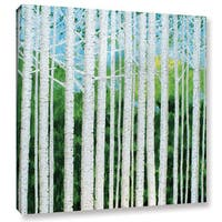 ArtWall Herb Dickinson's Birch Grove Spring, Gallery Wrapped Canvas
