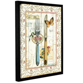 ArtWall Lisa Audit's Rose Gaden Utensils, Gallery Wrapped Floater-framed Canvas