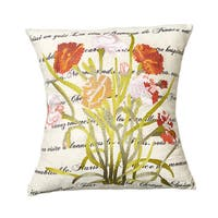 Poppy 18-inch Throw Pillow