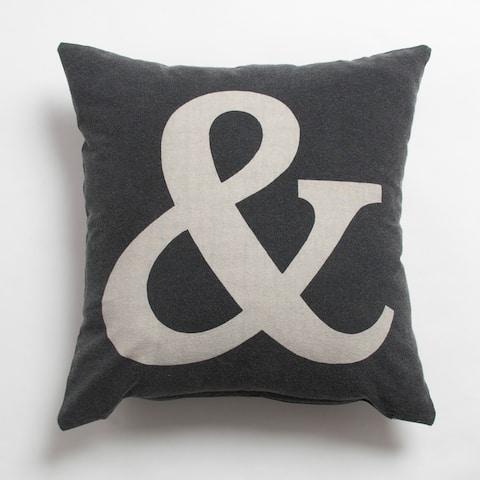 Ampersand Decorative Throw Pillow
