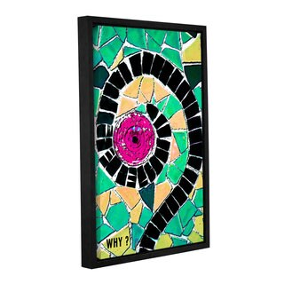 ArtWall Linda Parker 'Why' Gallery-wrapped Floater-framed Canvas
