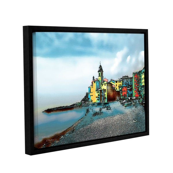 ArtWall Linda Parker 'Camogli, Italy Beachside' Gallery-wrapped Floater-framed Canvas - Multi
