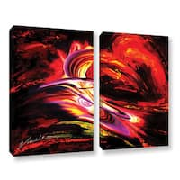 ArtWall Milen Tod 'Flair' 2 Piece Gallery-wrapped Canvas Set