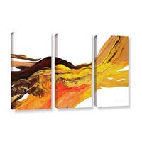 ArtWall Milen Tod 'Flow 2' 3 Piece Gallery-wrapped Canvas Set