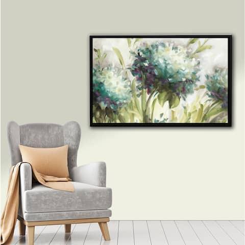 ArtWall Lisa Audit's Hydrangea Field, Gallery Wrapped Floater-framed Canvas