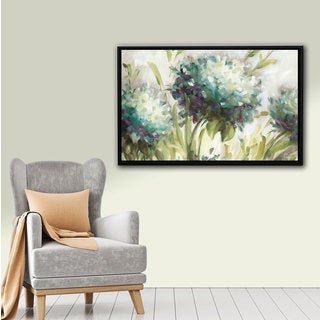 ArtWall Lisa Audit's Hydrangea Field, Gallery Wrapped Floater-framed Canvas