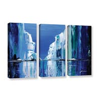 ArtWall Milen Tod 'Gelid' 3 Piece Gallery-wrapped Canvas Set