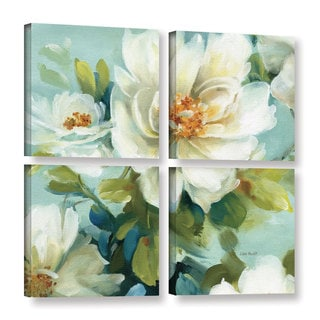 ArtWall Lisa Audit's Reflections III, 4 Piece Gallery Wrapped Canvas Square Set