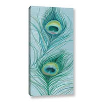 ArtWall Lisa Audit's Blue Feathered Peacock V, Gallery Wrapped Canvas