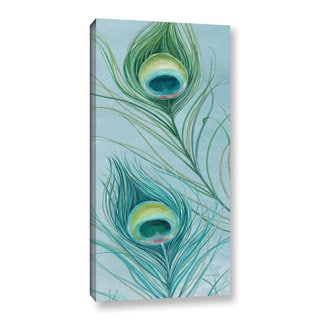 ArtWall Lisa Audit's Blue Feathered Peacock IV, Gallery Wrapped Canvas