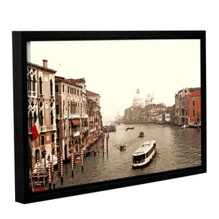 ArtWall Linda Parker 'Grand Canal From Rialto ' Gallery-wrapped Floater-framed Canvas