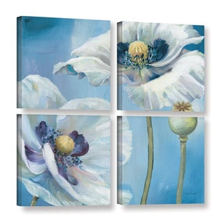ArtWall Lisa Audit's Blue Dance II, 4 Piece Gallery Wrapped Canvas Square Set