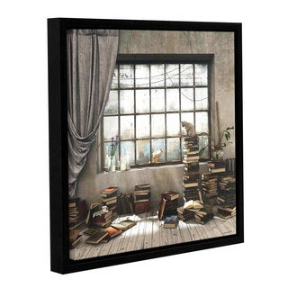 ArtWall Cynthia Decker 'The Introvert' Gallery-wrapped Floater-framed Canvas