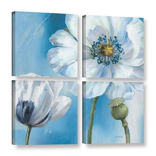 ArtWall Lisa Audit's Blue Dance III, 4 Piece Gallery Wrapped Canvas Square Set