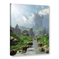 ArtWall Cynthia Decker 'Distant Castle' Gallery-wrapped Canvas