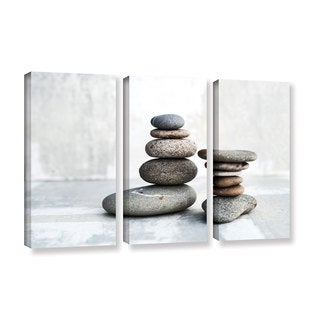 ArtWall Elena Ray 'Sea Stones' 3 Piece Gallery-wrapped Canvas Set