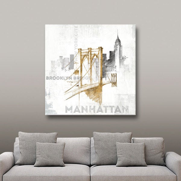 ArtWall Avery Tillmon's Brooklyn Bridge, Gallery Wrapped Canvas