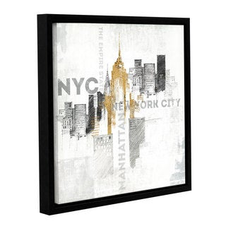 ArtWall Avery Tillmon's Empire State Building , Gallery Wrapped Floater-framed Canvas