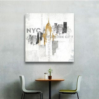 ArtWall Avery Tillmon's Empire State Building , Gallery Wrapped Canvas