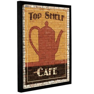 ArtWall Avery Tillmon's Top Shelf Cafe, Gallery Wrapped Floater-framed Canvas