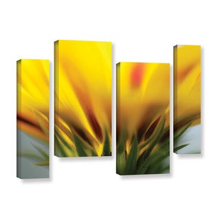 ArtWall Sydney Schardt's Mexican Daisy, 4 Piece Gallery Wrapped Canvas Staggered Set