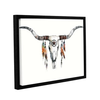 ArtWall Avery Tillmon's Longhorn, Gallery Wrapped Floater-framed Canvas
