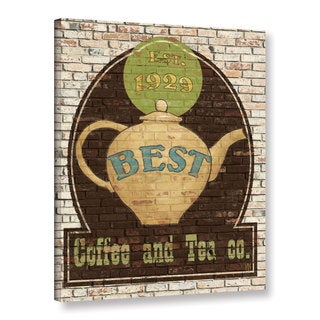 ArtWall Avery Tillmon's Best Coffee And Tea, Gallery Wrapped Canvas