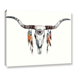 ArtWall Avery Tillmon's Longhorn, Gallery Wrapped Canvas