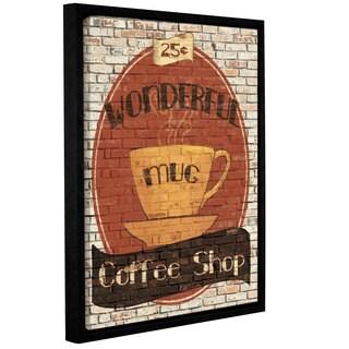 ArtWall Avery Tillmon's Wonderful Coffee Shop, Gallery Wrapped Floater-framed Canvas