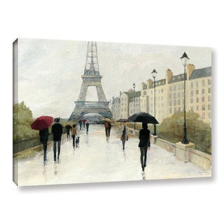 ArtWall Avery Tillmon's Eiffel In The Rain Marsala Umbrella, Gallery Wrapped Canvas