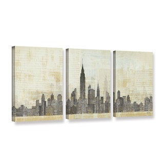 Avery Tillmon's 'Empire Skyline 1' 3-piece' Gallery Wrapped Canvas Set