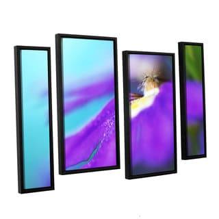 ArtWall Sydney Schardt's Purple Center, 4 Piece Floater Framed Canvas Staggered Set