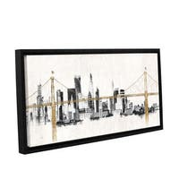 Avery Tillmon's 'Bridge And Skyline' Gallery Wrapped Floater-framed Canvas