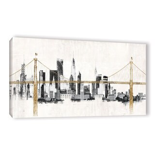 Avery Tillmon's 'Bridge And Skyline' Gallery Wrapped Canvas