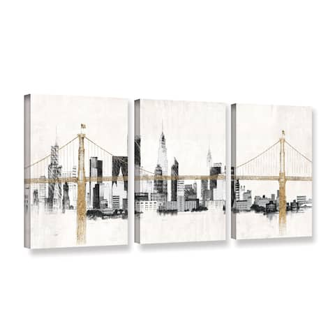 Avery Tillmon's 'Bridge And Skyline' 3-piece' Gallery Wrapped Canvas Set