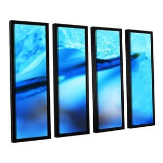 ArtWall Sydney Schardt's Blue Ice Floe, 4 Piece Floater Framed Canvas Set