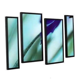 ArtWall Sydney Schardt's Purple Watercolor, 4 Piece Floater Framed Canvas Staggered Set