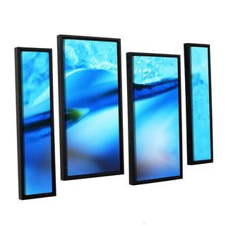 ArtWall Sydney Schardt's Blue Ice Floe, 4 Piece Floater Framed Canvas Staggered Set