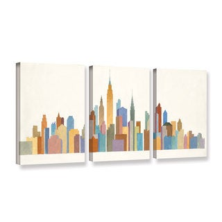 Avery Tillmon's 'Empire Skyline 2' 3-piece' Gallery Wrapped Canvas Set