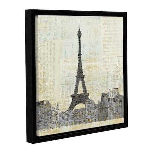 Avery Tillmon's 'Eiffel Skyline 3' Gallery Wrapped Floater-framed Canvas