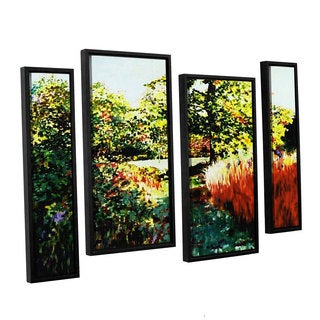 ArtWall Sylvia Shirilla's Impression Path, 4 Piece Floater Framed Canvas Staggered Set