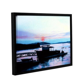 ArtWall Sylvia Shirilla's Maine Fishing Boat, Gallery Wrapped Floater-framed Canvas