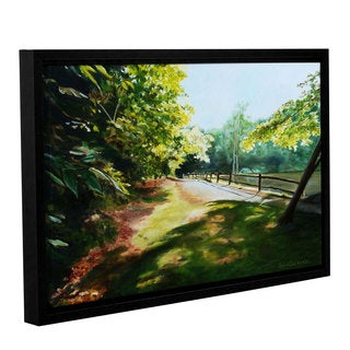 ArtWall Sylvia Shirilla's Path At Lily Pond 3, Gallery Wrapped Floater-framed Canvas