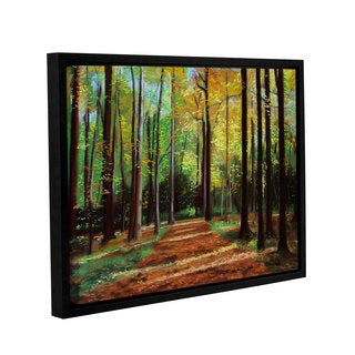 ArtWall Sylvia Shirilla's Poland Woods, Gallery Wrapped Floater-framed Canvas