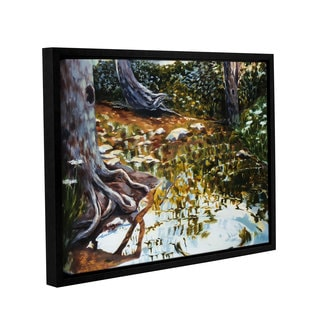 ArtWall Sylvia Shirilla's Reflections In Stream, Gallery Wrapped Floater-framed Canvas