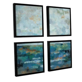 ArtWall Silvia Vassileva's Seascape Sketches 2, 4 Piece Floater Framed Canvas Sqare Set