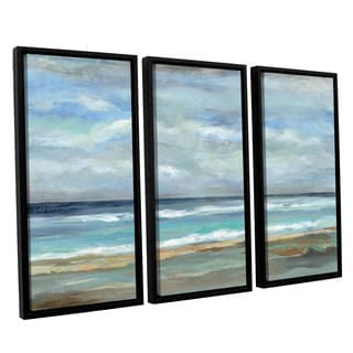 ArtWall Silvia Vassileva's Seashore, 3 Piece Floater Framed Canvas Set