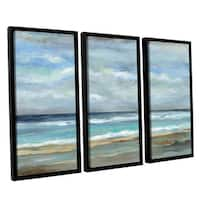 ArtWall Silvia Vassileva's Seashore, 3 Piece Floater Framed Canvas Set