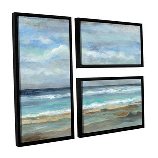ArtWall Silvia Vassileva's Seashore, 3 Piece Floater Framed Canvas Flag Set
