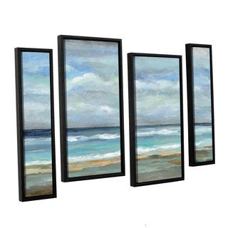 ArtWall Silvia Vassileva's Seashore, 4 Piece Floater Framed Canvas Staggered Set